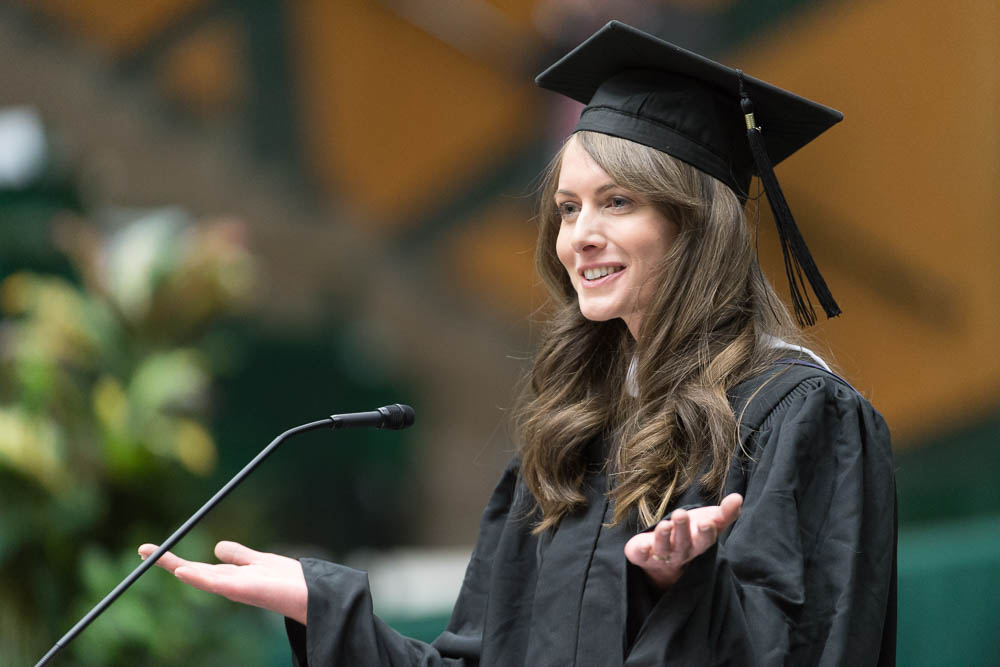 katherine courage college of natural sciences colorado state university commencement address fall 2016